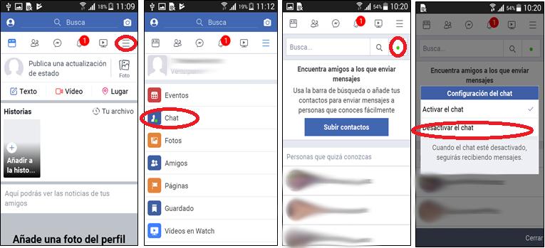 Facebook Lite ocultar modo on-line